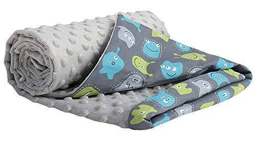 Mantas para Bebés 75x100cm Multifunción 100% Algodón Öko-Tex Medi Partners Confortable Minky Cochecito Suave y Mullida Universal