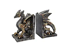 Steampunk Dragon bookends Cast in the finest resin Skilfully hand-painted Size 27cm Weight 2kg