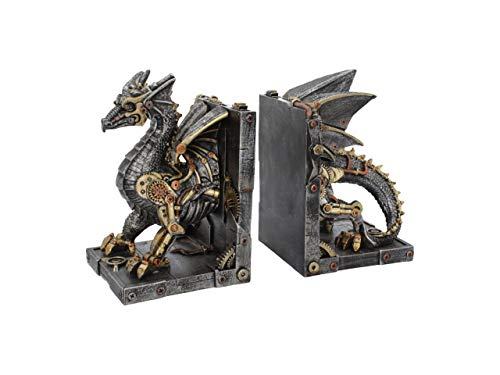 Nemesis Now Bookends 27cm, Bronze Buchstützen Dracus Machina, 27 cm