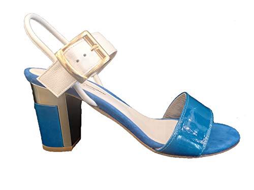 River - Sandalias mastrodomenicas de color azul eléctrico y blanco Azul Size:...