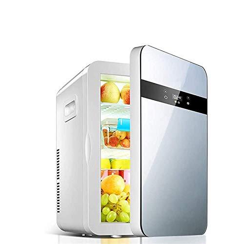 DFJU Mini Nevera, Nevera para el Cuidado de la Piel para Dormitorio con Control de Temperatura e iluminación para Oficina y Dormitorio Refrigerador y Calentador Compacto portátil