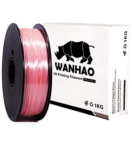 PLA SILK tutti i colori PREMIUM WANHAO - 1,75 mm, 1 kg, filamento per stampante 3D, Rosa, 1