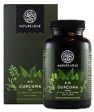 NATURE LOVE Bio Curcuma - 240 Kapseln. 4540mg Kurkuma + schwarzer Pfeffer je Tagesdosis. Curcumin & Piperin. Laborgeprüft. hochdosiert, vegan, hergestellt in Deutschland