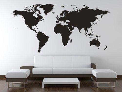 Bilderdepot24 Adesivo murale Mappamondo XXL (Dimensioni: 1,80m x 0,84m) - Articolo di qualità Direttamente dal Produttore