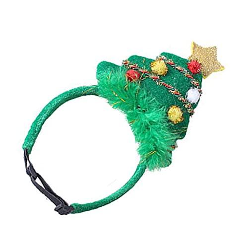 Cappello di Natale verde Pet, Pet Santa Cap Regolabile albero di Natale Capello, Pet Carino Accessori per la testa, Fascia di Natale animale domestico,Cane regolabile Green Santa Cap Copricapo L