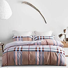 "HIGH GSM:130 GSM Microfiber Material for a luxurious,Such high quality provides exceptional softness and comfort,we guarantee it feels better than cotton. KING SIZE:King duvet cover set(size) includes 1 Duvet Cover 104"" x 90"" , 2 Pillow Shams 20""x 36..."