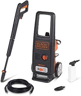 Black+Decker 1600W 125 Bar Pressure Washer Cleaner for Home, Garden & Car, Orange/Black - BXPW1600E-B5, 2 Years Warranty