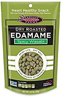 Seapoint Farms Dry Roasted Edamame, Wasabi, 3.5-Ounce Pouches (Pack of 24)