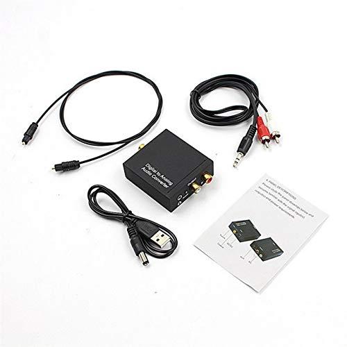 Ba30DEllylelly Convertidor de Audio Toslink óptico a analógico L/R RCA coaxial Digital...