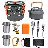 Utensilios de cocina abierta, kit de desorden, juego de cocina para acampar, utensilios de cocina para acampar, hervidor de campamento, olla de campamento, cocina de campamento, esencial para acampar,