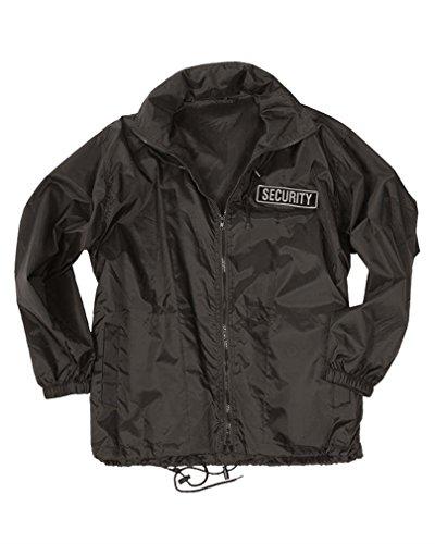Mil-tec veste coupe-vent pour personnel de sécurité-noir Noir Noir XXXL