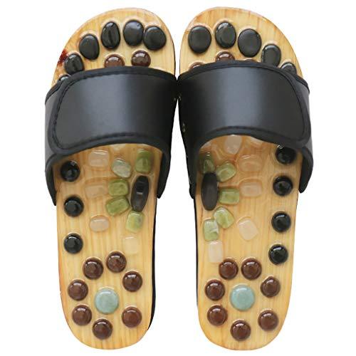 Sandalias Mujer Zapatillas de Masaje de pies con acupresión Jade Stone Acupoint Masaje Chanclas Promueve la circulación de la Sangre Cuidado de los Zapatos Alivia el Dolor en los pies Zapatilla