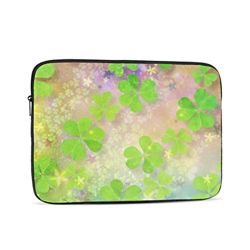 Green Leaves Laptop Sleeve 10 inch, Shock Resistant Notebook Briefcase, Computer Protective Bag, Tablet Carrying Case for MacBook Pro/MacBook Air/Asus/Dell/Lenovo/Hp/Samsung/Sony