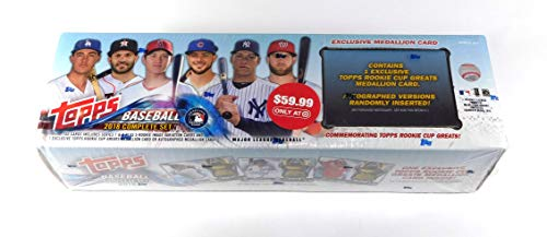 2018 Topps Baseball Complete Factory Sealed Set Target Rookie Medallion Retail Version (702 Cards + 5 Rookie Cards and 1 Rookie Medallion or Auto Card)