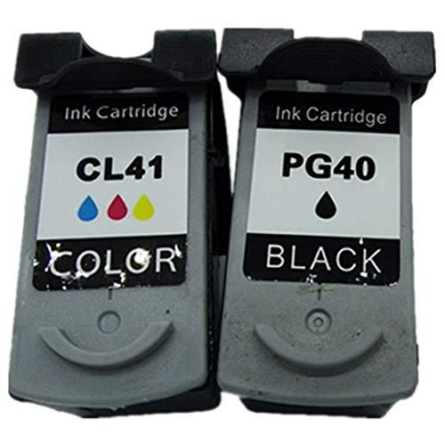 Cartuchos de Tinta de Repuesto para Canon Pixma MX308 IP2680 IP2400 IP2500 IP2600 IP6220D MP145 MP150 MP160 MP170 MP180 PG 40 XL PG40 CL-41 CL41 CL 41 CL-41, Color 1 Black + 1 Tri-Color