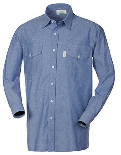 camicia uomo da lavoro Brembo Camicia Uomo da Lavoro Cotone Oxford Azzurra Manica Lunga HH020 (XXXL)