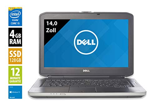 Dell Latitude E5430-14,0 Zoll - Core i5-3210M - 2,5 GHz - 4GB RAM - 128GB SSD - DVD-RW - WXGA (1366x768) - Webcam - Win10Home (Generalüberholt)