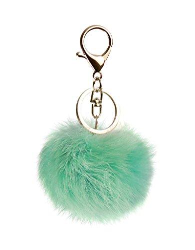 trendfuxx® - Fellbommel Anhänger für die Handtasche, Schlüsselanhänger - mintgrün