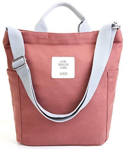 Worldlyda Women Canvas Tote Purse Handbags Crossbody Shoulder Bag Casual Work School Shopper Hobo Top Handle Handbag