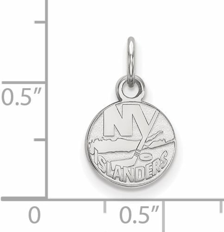 Sterling Silver NHL Hockey LogoArt Official Licensed New York Islanders XS Pendant