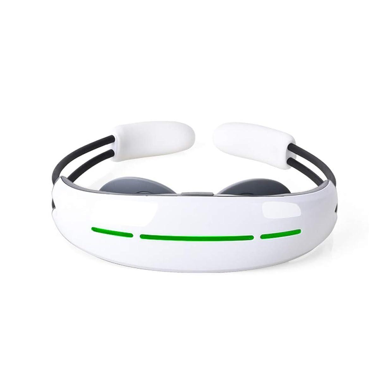 おとこ過去発言するスマートネックマッサージャー、 低周波数の電気ショック療法熱自宅での首の肩の使用のための深い混練磁気効果マッサージ