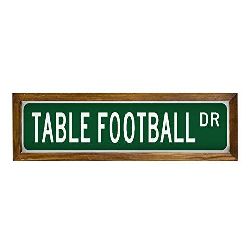 qidushop Señal de Calcio Balilla Calcio Balilla Tavolo Da Tifoso para el jugador de futbolín, de madera, para pared, diseño de Divertente Natale Regali Per Donne