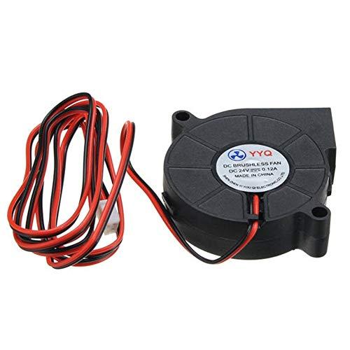 L.L.QYL Accessori per la Stampa 3D Ventola di Raffreddamento DC 24V Ultra Silenzioso a turbina Piccola DC Blower 5015 for Stampante 3D Circuit Board 3D Accessori for stampanti