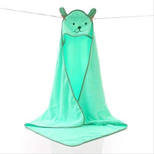 DongDongDong Baby Towel Newborn Bath Comfortable Soft Baby Hooded Bathrobe Cute Animal Beach Cotton Towel Kids Babies Blanket Green