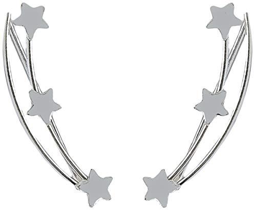 Pendientes Trepadores Climbers Plata de Ley 925 3 Estrellas