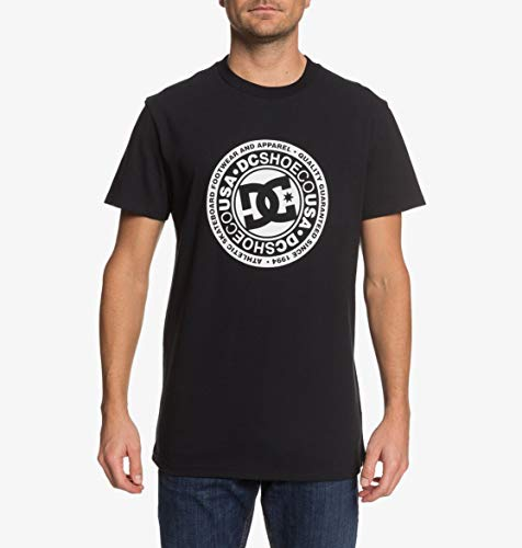 DC Shoes Herren T-shirt Circle Star - T-shirt für Männer, black/Snow white, M