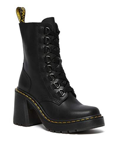 Dr. Martens Women's Lace Fashion Boot, Black Sendal Nappa, 6