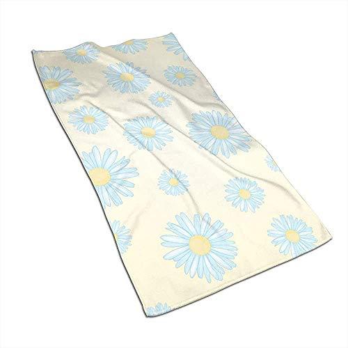 KOOOLPUN Toalla de Mano de Flor de Margarita Blanca Azul,