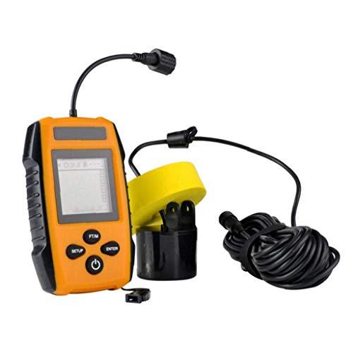 Uayasily Pesca Sonar Portátil Buscador Sensor Sonda Portátil Buscador De Los Pescados De Detección para Orange Fish Depth