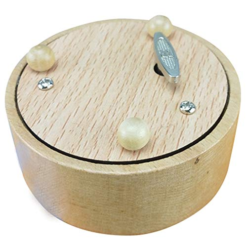 DUOER Cajas Musicales Caja de Música Caja de música Redonda en Blanco Cumpleaños Figura de acción de Regalo de San Valentín Estatua Modelo de Miniatura de Resina Caja de Música Cajas Musicales