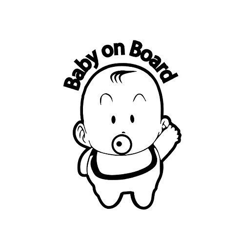 Schattige baby fopspeen zuigen car stickers gepersonaliseerde stickers csfssd (Color : Black)
