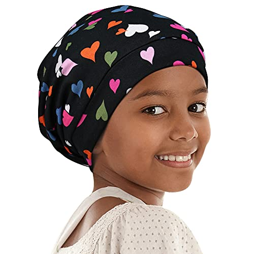 SatinBonnet for Curly Hair Sleeping Cap for Girls Boys Oversize Extra Large Adjustable Head Scarf Blue