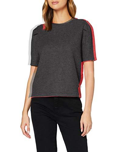 Q/S designed by - s.Oliver Damen 510.10.009.12.130.2043864 T-Shirt, Asphalt Melange, M