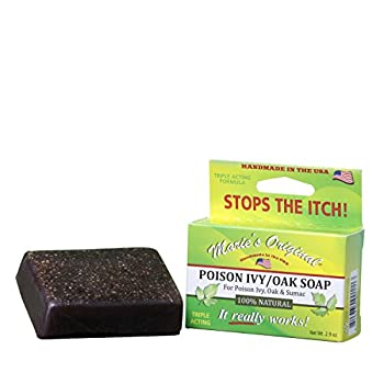 Marie's Original Poison Ivy Soap Bar – 100% All Natural Triple Acting Formula – Anti Itch Treatment for Poison Ivy Poison Oak and Sumac – Removes Oils Soothes and Relives Rashes - 2.9oz