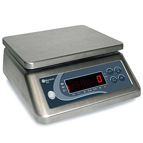 Baxtran SS15 - Balance en Acier Inoxydable, 15kg/1g, 23x 19cm, Protection IP-67