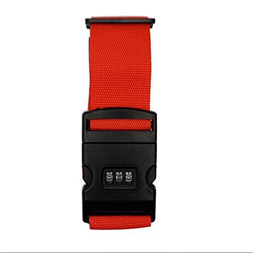 Logic(ロジック) スーツケースベルト クロスタイプ (レッド) 十字型 ゴムベルト [ダイヤルロック/トランクベルト/海外旅行]
