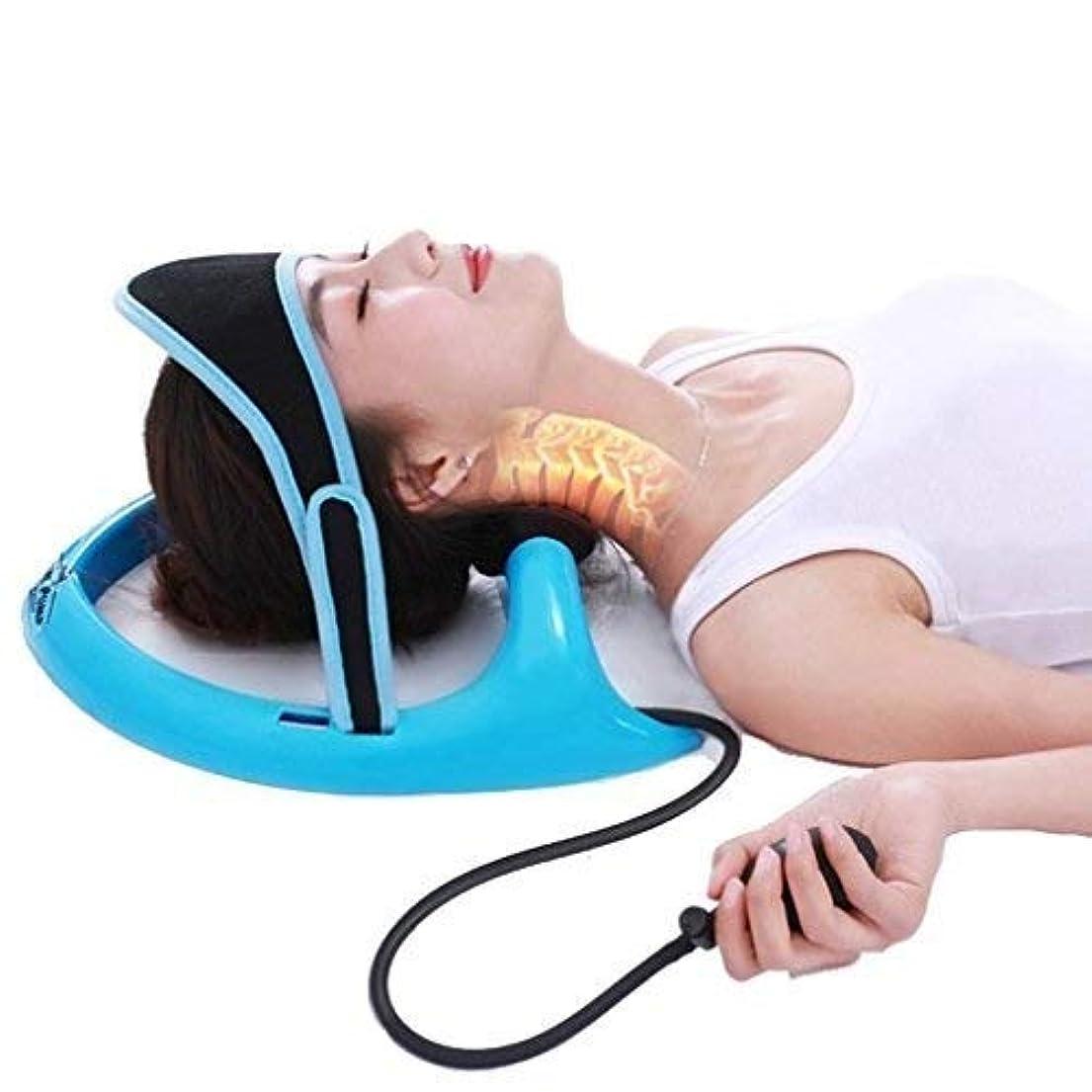 不健康抜本的な女性インフレータブル頸椎牽引装置頸椎矯正矯正脊椎の身体的矯正アライメントが首の痛みを軽減