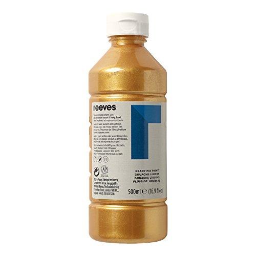 Reeves 4551283 Ready Mix Flasche, 500ml, flüssige Tempera der Spitzenklasse, intensive Farbe - gold