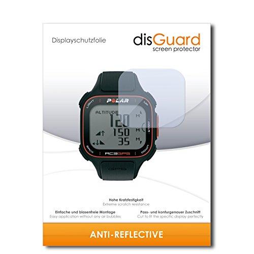 disGuard® Protector de Pantalla [Anti-Reflex] compatibile con Polar RC3 GPS [3 Piezas] Antirreflectante, Mate, Antirreflejante, Anti-Arañazos, Anti-Huella Dactilar - Película Protectora