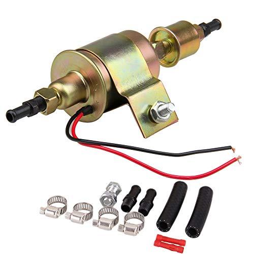 CarBole Universal Electric Fuel Pump Self- primming Transfer Pumps 5/16 inch, 5-9 Psi, 20-30 GPH Number E8012S, FD0002, P60430, EP12S, 6414671-2 Wire Design