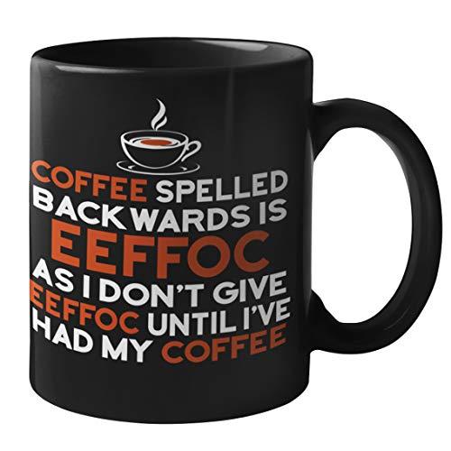 Funny Coffee Mugs for Adults - EEFFOC Coffee Mug   Unique Novelty Coffee Mugs   Humor Coffee Cups...
