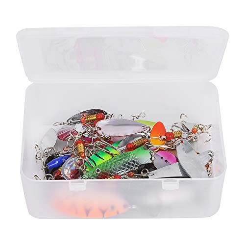 wosume 30PCS Artificial Bait Sequins, Fishing Sequins Bait, Metal Fishing Sequins, Fishing Tackle Tool Adult Children Outdoor Fun for Seawater/Freshwater