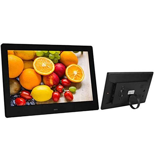 """BSLIAO - Cornice fotografica digitale da 10"""", display IPS 16:10, con sensore di movimento, con funzione di rotazione automatica, timer on/off automatico, con telecomando, supporto USB e scheda SD"""