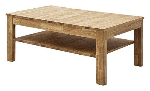 Robas Lund Couchtisch Wohnzimmertisch Tisch Massivholz Wildeiche, Fabian BxHxT 104 x 44 x 62 cm