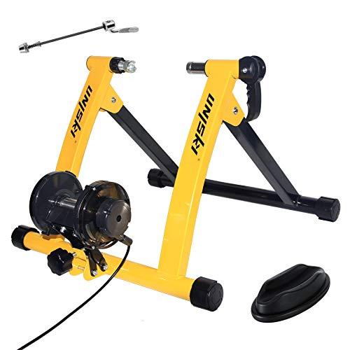 unisky Bike Trainer Stand Indoor Esercizio Bicicletta Training Stand Magnetico Equitazione Stand con 6 Livelli di Resistenza per Mountain & Road Bike