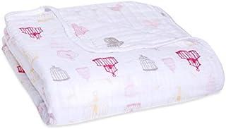 aden + anais Blanket, Lovebird, 0 To 36 Months, White/Pink, Piece of 1
